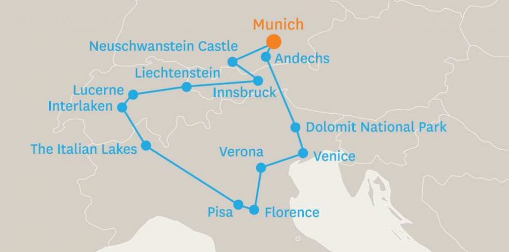 10 DAY TOUR OF THE ALPS