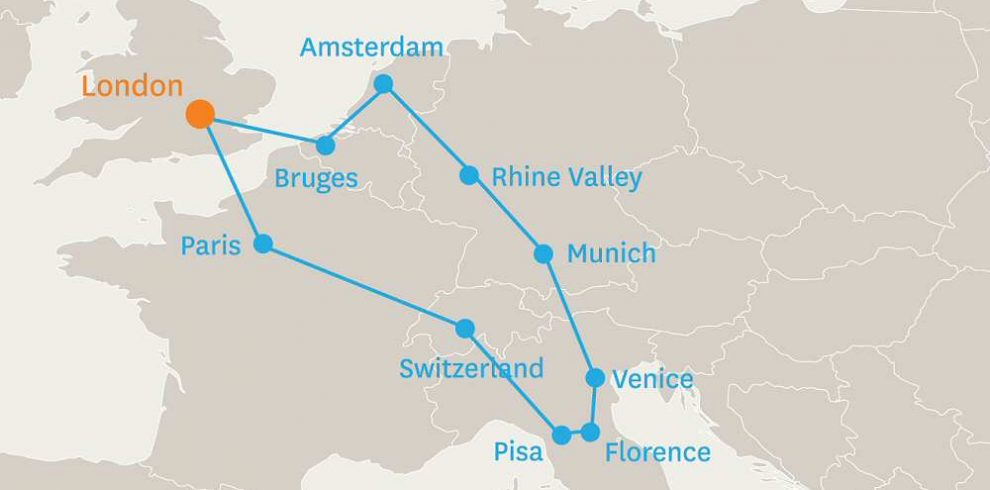 13 DAY HIGHLIGHTS OF EUROPE